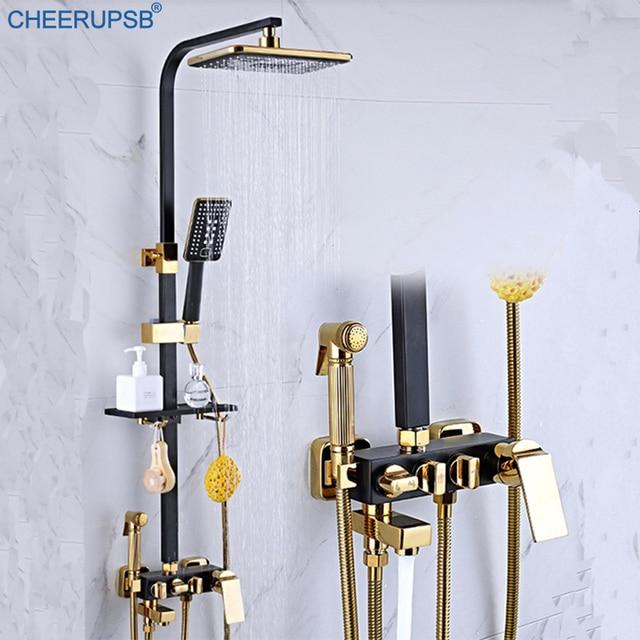 浴室降雨デジタル蛇口ウォールマウント Lcd ディスプレイタップ恒温シャワーシステム浴槽スマートサーモスタット蛇口