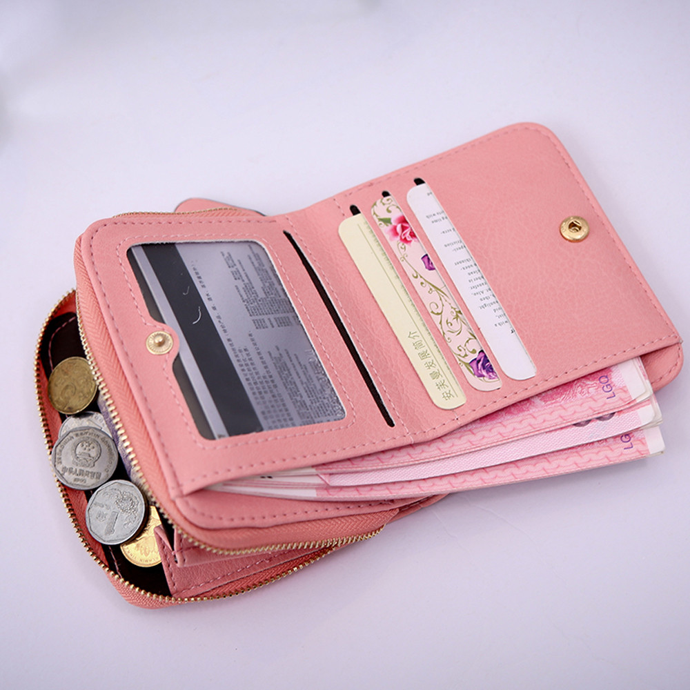 Women's Wallet Card Holder Wallets Nubuck Chess Small Zipper Wallet Coin Purse Small Zipper Wallet Женская сумка 2020 New