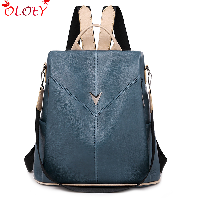 Backpack For Women Brand 2019 New Fashion Trend Wild Quality Lady Soft Leather Large Capacity Travel Casual Anti-theft Backpack