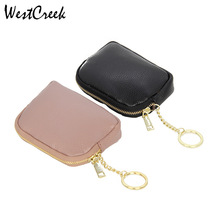 Wallets Coin-Purse Small Mini Genuine-Leather Fashion Women Lady Westcreek-Brand Casual