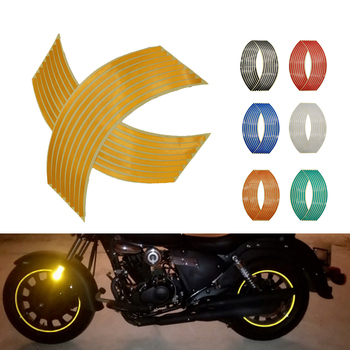 Motorcycle Wheel Sticker 3D Reflective Rim Tape Auto Decals Strips For Honda VFR 750 800 VTR1000F CBR 125 300 500 R F FA X RC51 image