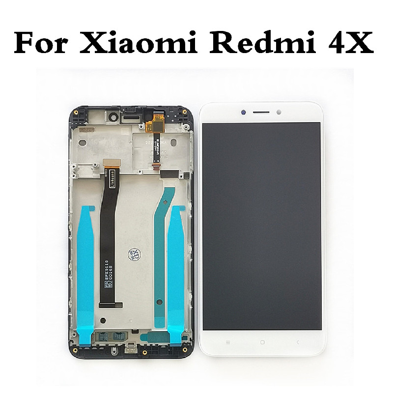 Original LCD For <font><b>Xiaomi</b></font> <font><b>Redmi</b></font> <font><b>4X</b></font> LCD <font><b>Display</b></font> Touch Screen Digitizer Assembly For <font><b>Redmi</b></font> <font><b>4X</b></font> Screen <font><b>Display</b></font> Replacement With <font><b>Frame</b></font> image