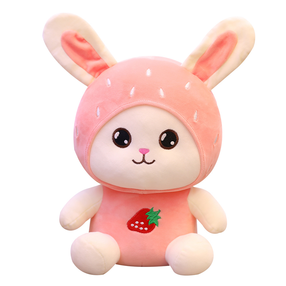 Hot Lovely 1PCS 23cm Kawaii Cartoon Fruit Rabbit Plush Toy Bunny  Soft Stuffed Animal Doll Kids Girls Birthday Christmas Gift