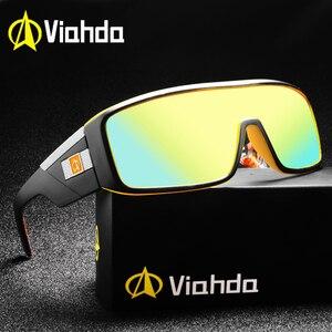 Image 1 - 2020 Viahda Fashion Brand designer Mens Mirror Sunglasses for Women and Men Sports Driving Coating UV400 Eyewear Sun Glasses