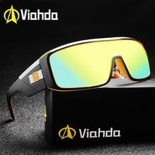 Viahda óculos de sol unissex espelhado, óculos de sol espelhado para homens e mulheres, proteção uv400 2020
