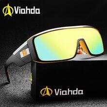 Viahda gafas de sol con espejo para hombre y mujer, lentes de sol unisex con revestimiento para conducir, deportivas, UV400, a la moda, 2020
