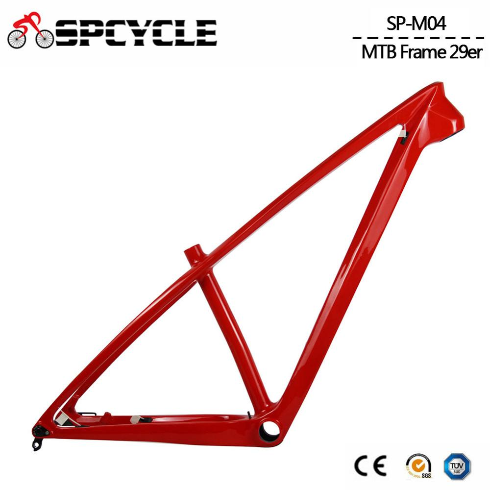 Spcycle 29er Full Carbon MTB Frame 27.5er Carbon Mountain Bike Frame 142*12mm Thru Axle MTB Bicycle Frames BB92 Size 15/17
