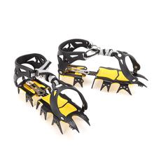 18 zębów antypoślizgowe raki Spike Grips Cleats Ice Snow wspinaczka buty trekingowe buty Ice Shoe cover kolce raki Ice Gripper tanie tanio CN (pochodzenie)