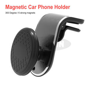 Mini Magnetic Car Phone Holder Air Vent Clip Phone Stand For Smartphones In Car Strong Magnet Adsorption Mobile Stand