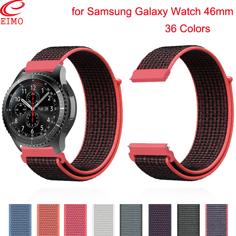 Gear S3 For Samsung Galaxy Watch 46mm 42mm Gear Sport S2 Nylon Xiaomi Amazfit Bip 47mm Huawei Watch Gt Strap 20 22mm Watch Band
