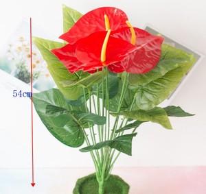 Image 5 - New 18 Forks/Bouquet 54cm Artificial Tropical Palm Leaves Simulation Plants Home Balcony Garden Landscape Decoration Accessories