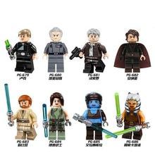 PG8034 Single Sale Star Wars Luke Skywalker Qui-Gon Jinn Death Robot Mace Windu Princess Leia Building Blocks Children Toys