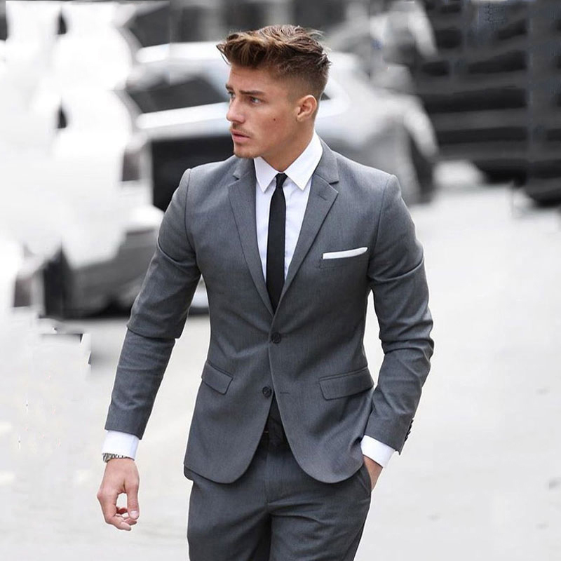 Men's Classic Suits For Business Slim Fit Groom Tuxedos 2Piece Jacket Pants Costume Homme Terno Masculino Male Blazers