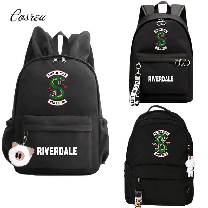 South Side Serpents Riverdale Serpents Snake Logo Backpack Student School Shoulder Bag Travel Bag Travel Rucksack Laptop Bags