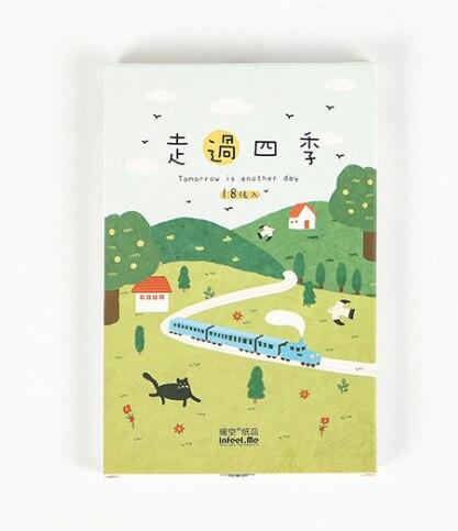 P63- Forest Season Paper Postcard(1pack=18pieces)