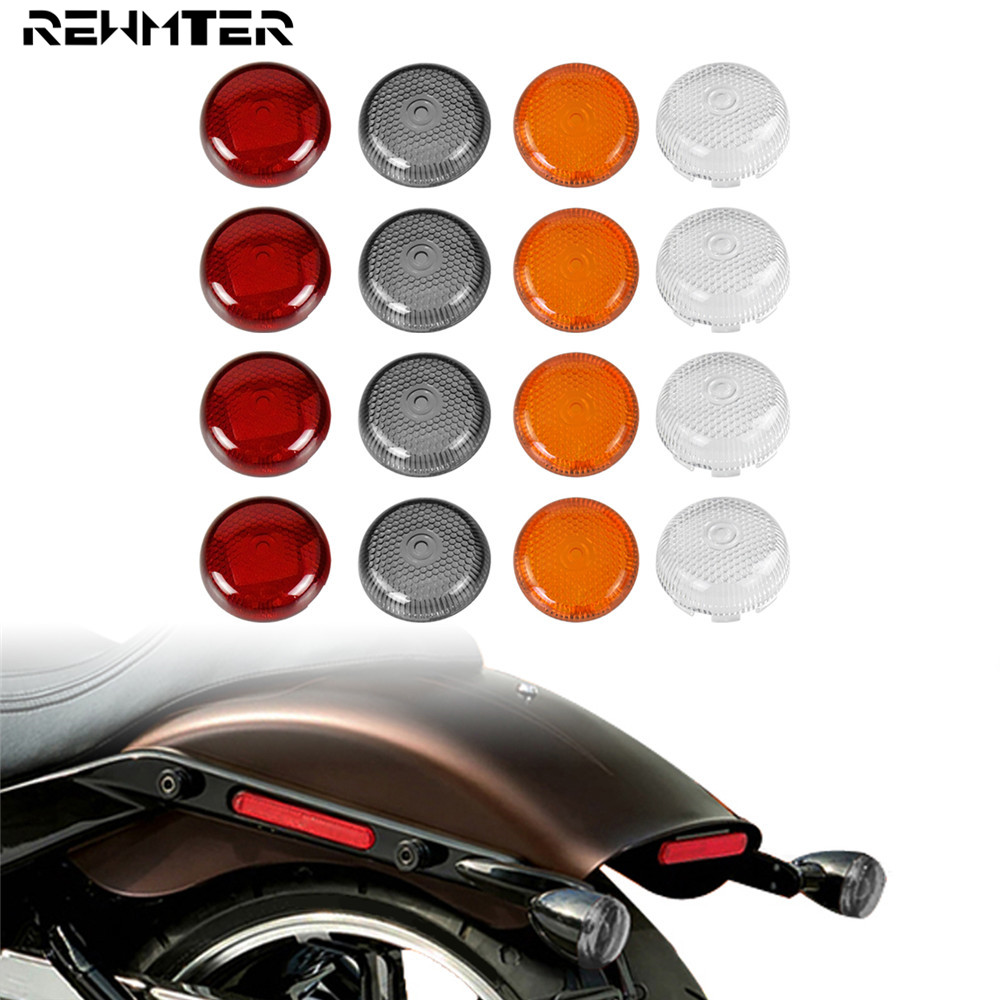 4×Turn Signals Lamp Clear Lens Cover For Harley Dyna Softail Sportster 1986-2015