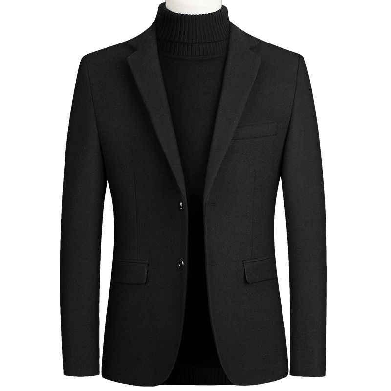 Hoge Kwaliteit Mannen Wol Pak Jas Wol Blends Casual Blazers Mannen Pak Top Mannelijke Solid Business Casual Heren Jassen en Jassen