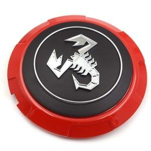 Image 3 - Gzhengtong cache Centre de roue en alliage, 133mm, 4 pièces/ensemble, pour Fiat 500 Abarth 04726184AA 53106013 86919, noir et rouge