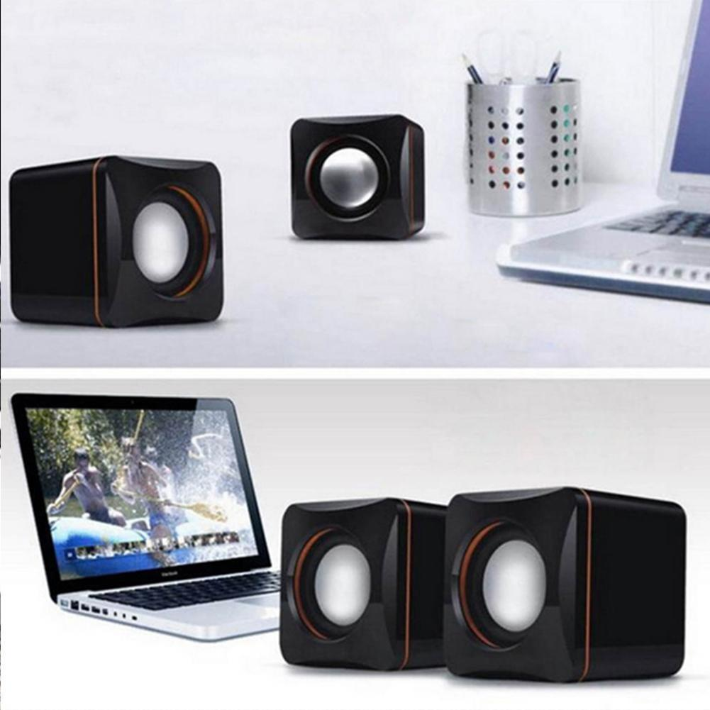 Portable Computer Speakers USB Powered Desktop Mini System Small Bass Speaker Wired Player Sound Speaker Music N3Y7