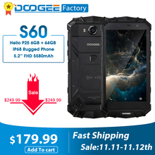 DOOGEE S60 6GB+64GB Helio P25 Octa Core Smartphone Wireless&Quick Charge IP68 5.2
