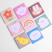 Koreaanse Mooie Dier Sticky Notes Memo Pad Check Lijst Decor Index Tab Label Kawai Konijn Leuke Bloem Regenboog Kid Meisje briefpapier(China)