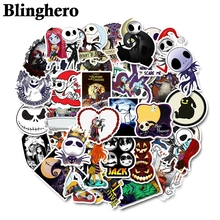 CA476 50pcs/Set The Nightmare Before Christmas Halloween Sticker For Laptop Moto Skateboard Luggage Guitar Sticker Toy Sticker bandshop sticker i play the guitar