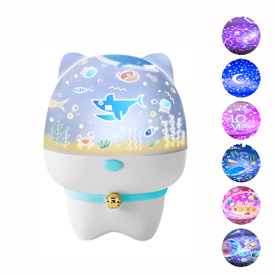 Rotate Star Projector Lamp LED Night Light Bluetooth Speaker  Remote Control Timer Touch Lamp For Children Kids Bedroom Gifts