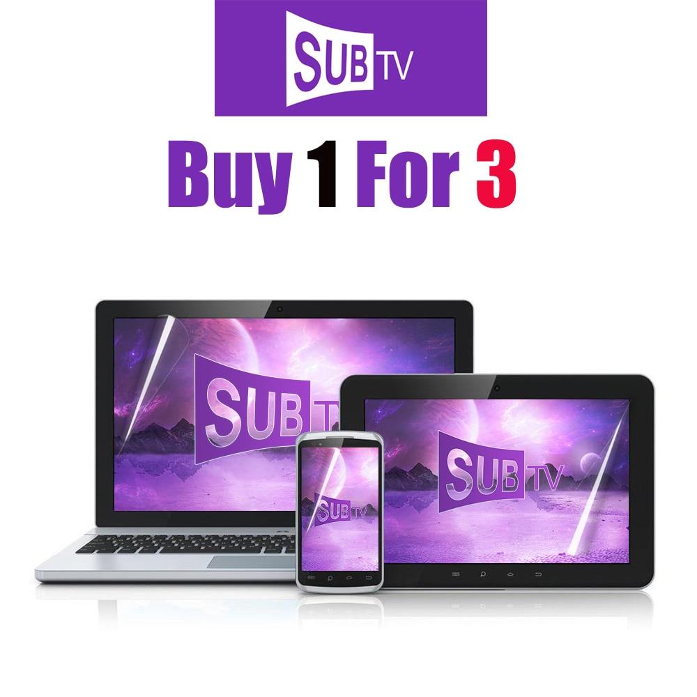 Защита для телевизора SUB TV 4K Lxtream, защита m3u для экрана на Android, с арабским и полным разрешением, с немецким, греческим и итальянским языками, по...