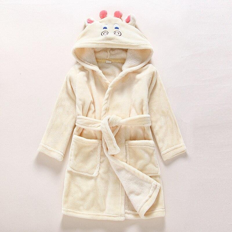 CHILDREN'S Cartoon Animal Modeling Bathrobe Men And Women Robe Bathrobe Baby Hooded Flannel Mouse