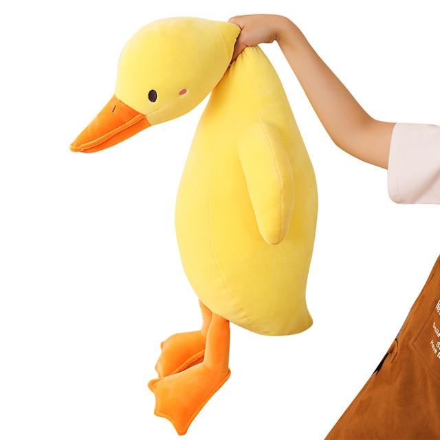 70~140cm Ultra Soft Plush Duck Doll Yellow Pink White Stuffed Farmland Animal  Down Cotton Filled Comforting Plushie 1