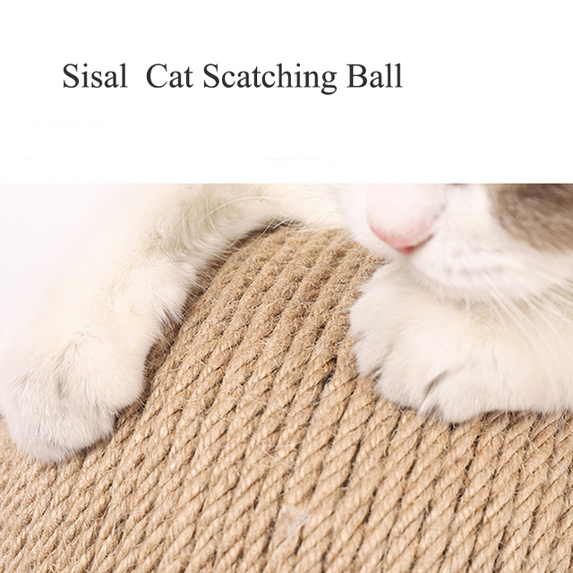 Cat Scratcher Sisal Rope Ball Cat Scratching Post Wood Stand Anti-Scratch Toy For Cats 2
