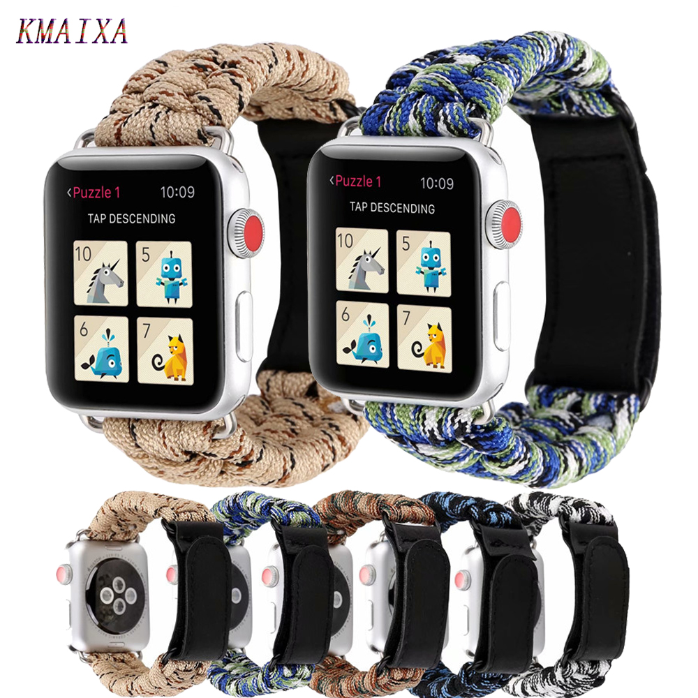 Nylon Strap for <font><b>Apple</b></font> <font><b>watch</b></font> band 44 mm <font><b>apple</b></font> <font><b>watch</b></font> 5 4 3 <font><b>2</b></font> 1 iwatch band <font><b>42mm</b></font> correa 38 mm 40mm <font><b>pulseira</b></font> watchband bracelet belt image