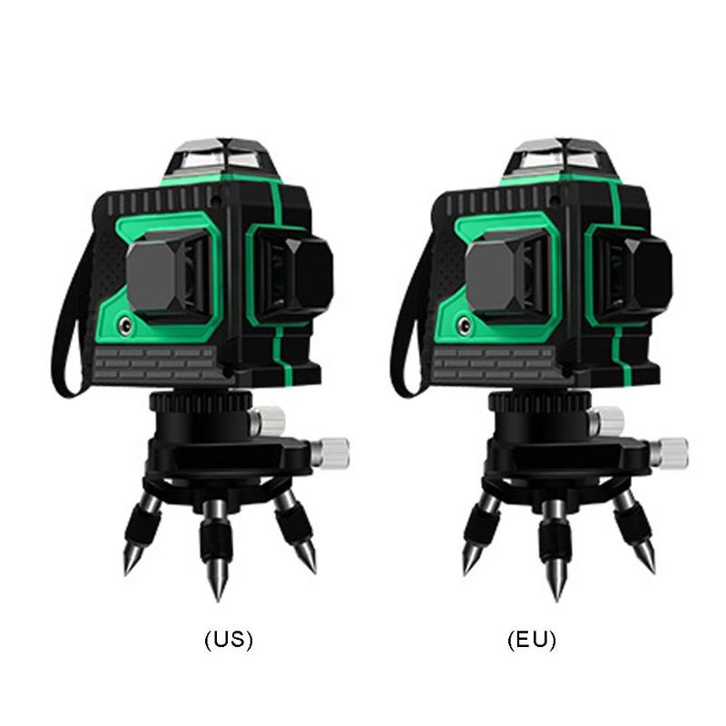 12 linii 3D samopoziomujący poziom lasera 360 poziomy pionowy instrumentów