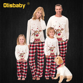 2020 Family Matching Christmas Pajamas New Year Mom and Daughter Mother Daddy Baby Girl Boy Family Family Look Christmas Clothes