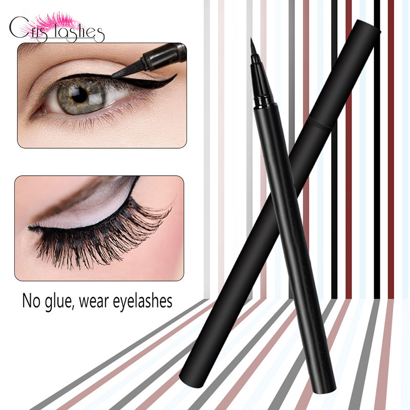 Crislashes Adhesive Eyeliner Pen False Eyelash Eye Liner Glue Quick Dry Black/Brown Portable Liquid New Makeup Beauty Tools