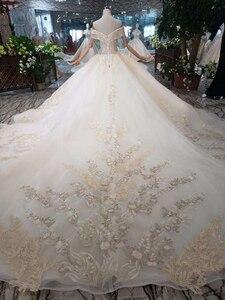 Image 2 - BGW robe de mariée luxueuse tenue de bal, avec Train Royal, faite à la main, bonne qualité, Style moyen orient, à la mode, 2020