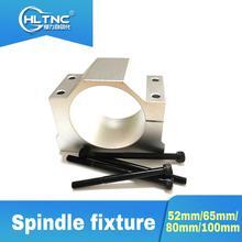3D printer 80mm/65mm/100mm/52mm spindle motor bracket seat cnc carving machine clamp motor holder aluminum forspindle motor  cnc