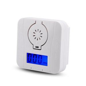 CO Gas Sensor Detector Carbon Monoxide and Smoke Alarm Detectors Combination Warning Poisoning Gas LCD Display High Sensitive