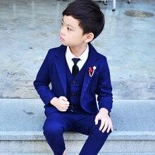 3 PCS Boys Wedding Clothes Blazer Vest Pants Children's Formal Suits
