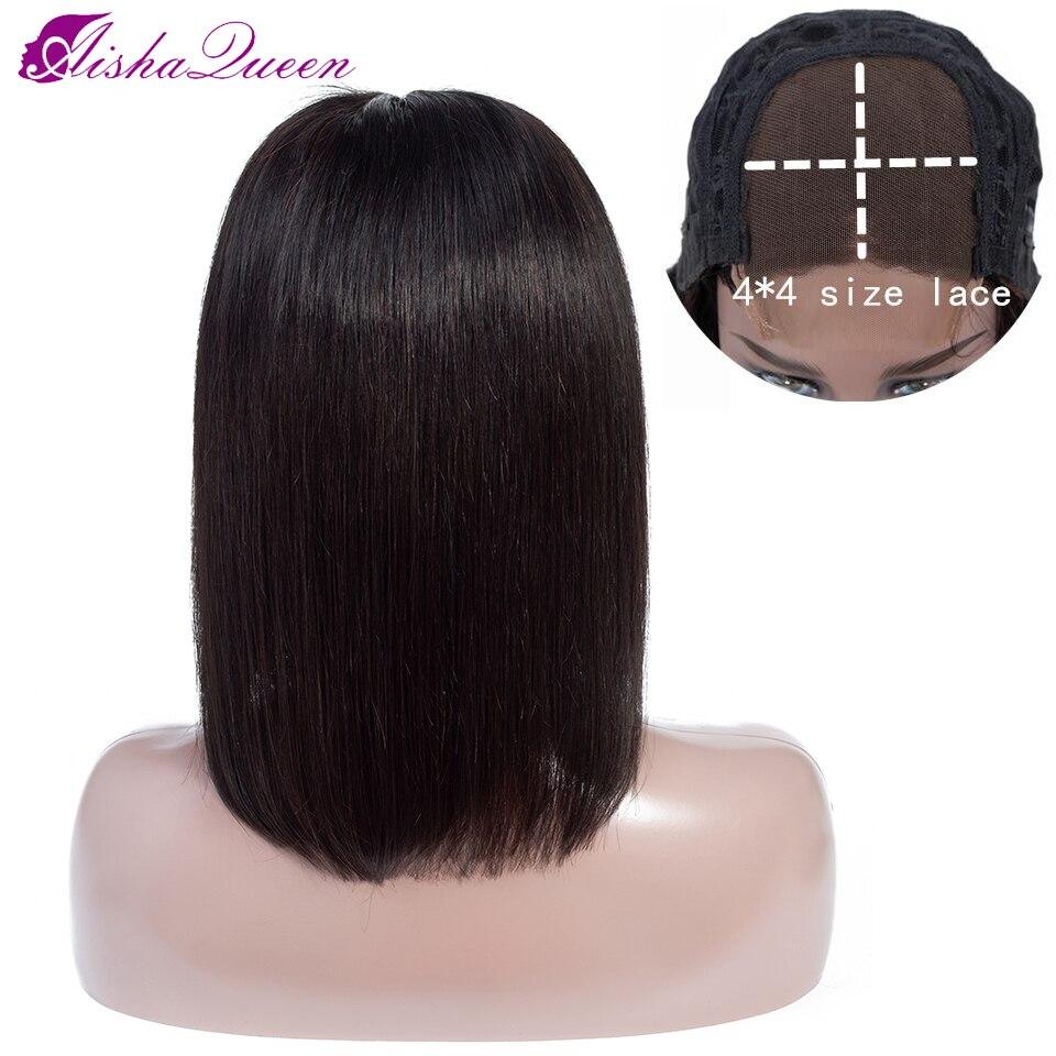 «Холодное-сердце»-aisha-queen-4x4-Короткие-парики-из-человеческих-волос-парики-для-Для-женщин-бразильские-прямые-волосы-non-remy-парик-кружева-закрыт
