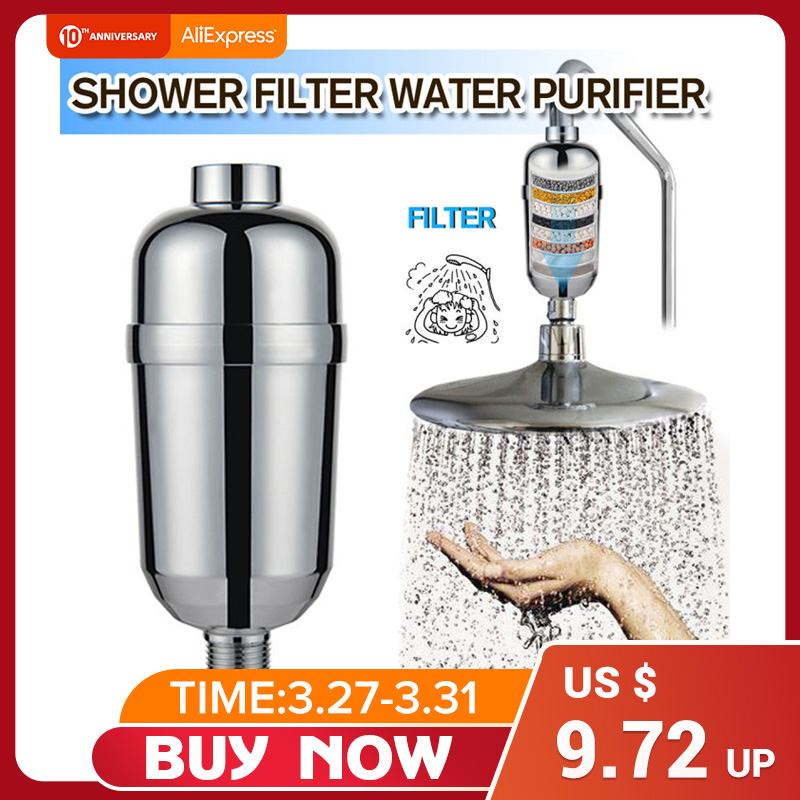 Bathroom Shower Filter Bathing Water Filter Purifier Water Treatment Health Softener Chlorine Removal Water Purifier