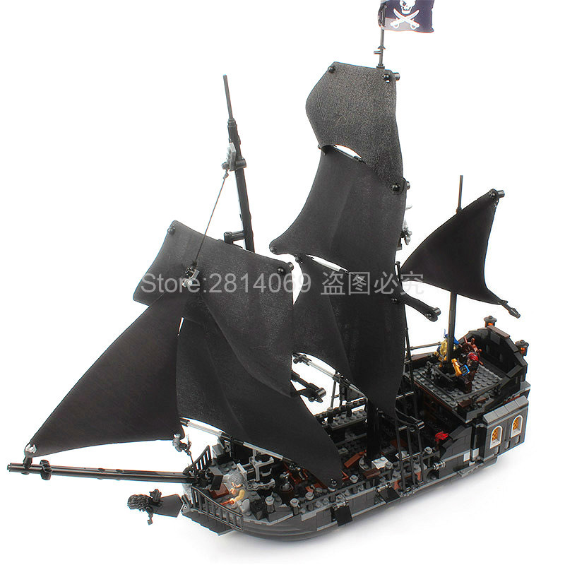 16006 Movie Series The Black Pearl 804pcs Pirates of the Caribbean Building Blocks Set 4184 Educational DIY Toys image
