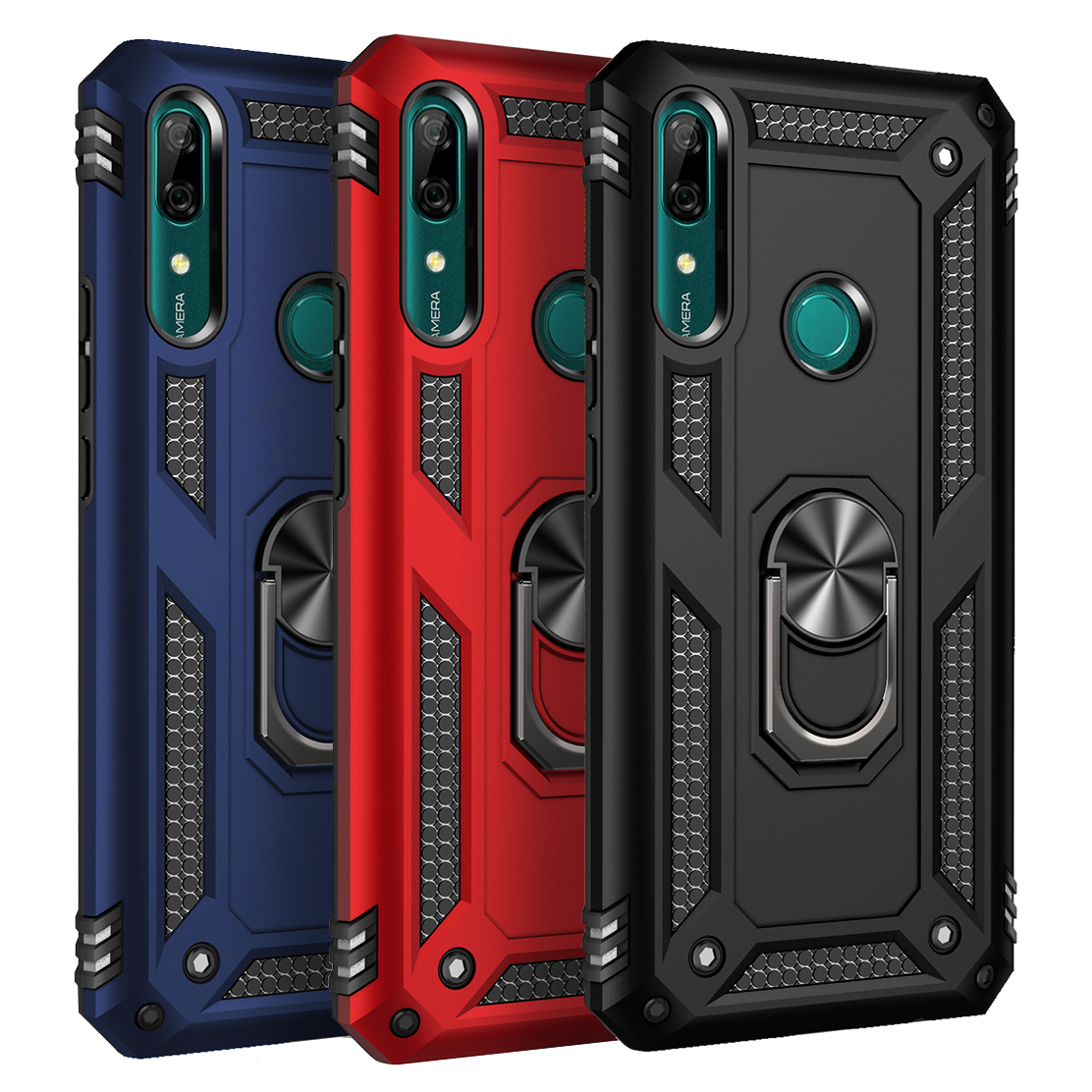 Magnetic Armor Ring Case For Huawei P30 P40 Pro P20 Lite Mate 30 P Smart Z Y9 Prime 2019 Honor 20 9X Nova 5T 6SE 7i Rugged Cover(China)