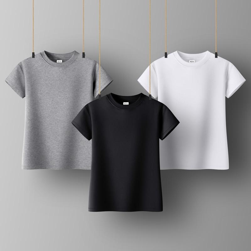 Womens Top Lady Cotton Short Sleeve Turtleneck Top Woman Tshirt  All Match Basic T-shirt Black Gray White  Color Woman Tshirt