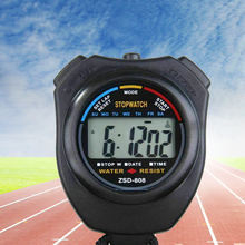 Hot Digital  Professional Handheld LCD Racing & Swimming Chronograph Counter Timers With Strap Alarm Sports Watches цена в Москве и Питере