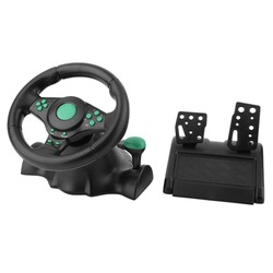 Racing Spiel Lenkrad Für XBOX 360 PS2 Für PS3 Computer USB Auto Lenkung-Rad 180 Grad Rotation Vibration mit Pedale