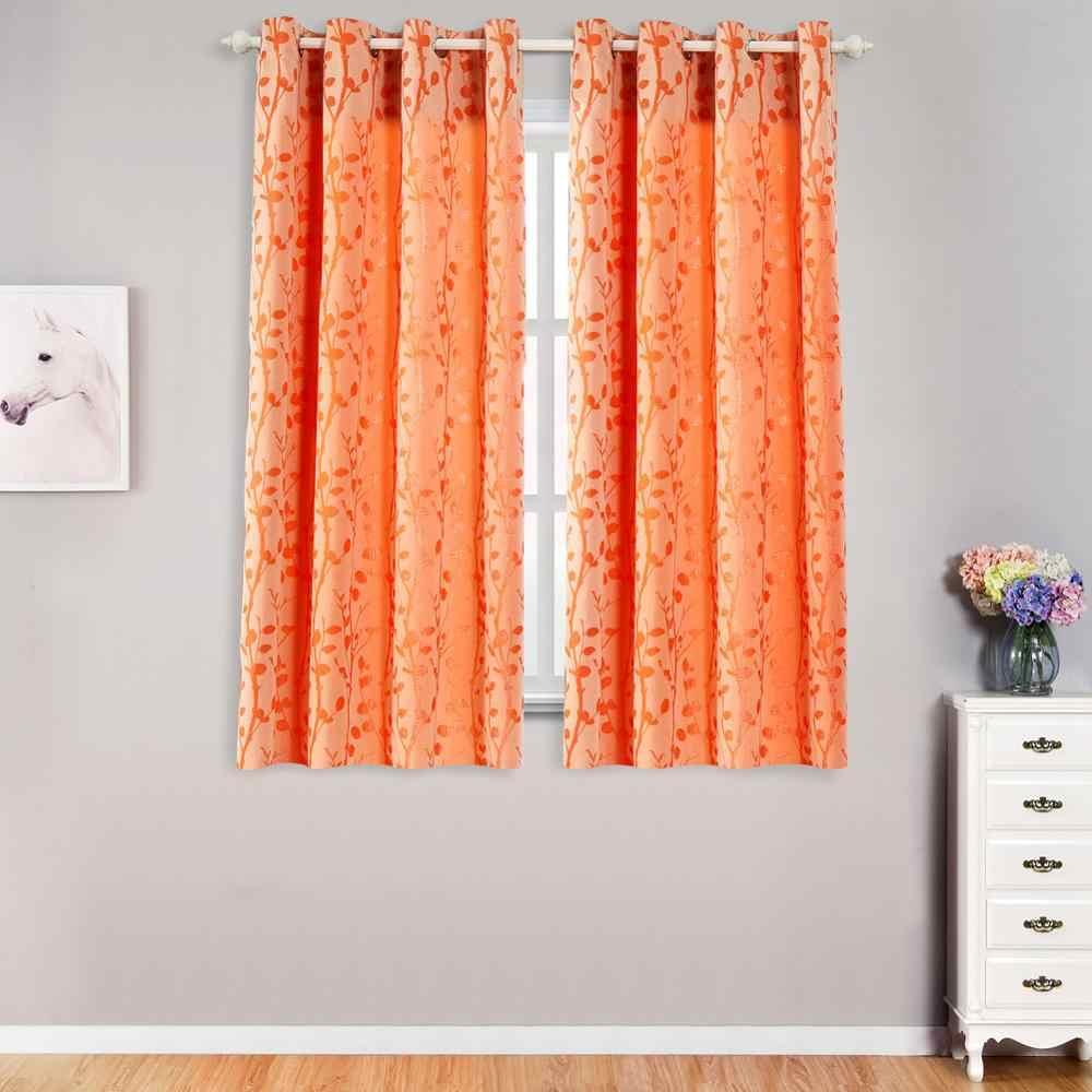 lozujoju rideau a motif de feuilles a filetage court pour salon fenetres chambre a coucher porte de cuisine tissus epais