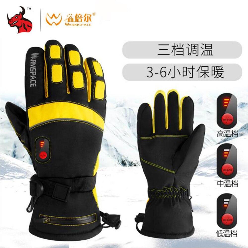 Gants de Moto imperméables WARMSPACE gants chauffants d'hiver à piles gants de Moto imperméables à l'épreuve de la batterie écran tactile Gant Moto