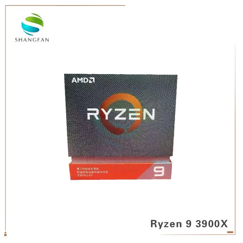 New AMD Ryzen 9 3900X R9 3900X 3.8 GHz Twelve-Core 24-Thread CPU Processor 7NM L3=64M 100-000000023 Socket AM4 With Cooler Fan