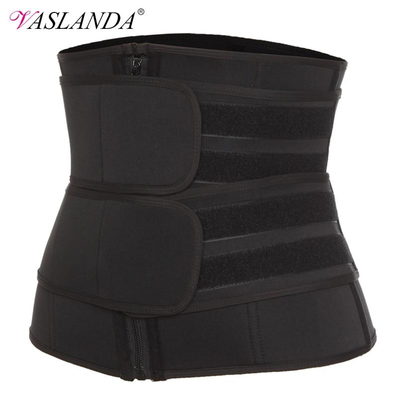 VASLANDA Boned Waist Corset Trainer Sauna Sweat Sport Girdles Cintas Modeladora Women Lumbar Shaper Workout Trimmer Belt
